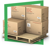 Упаковка держи поддоны равным образом складывание гофроящиков держи автотранспорт